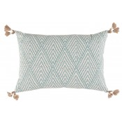 lacefield tahitian stitch horizon pillow with tassels