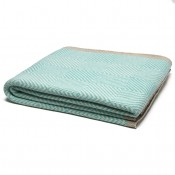 eco woven square throw blanket seafoam