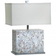 shell tile table lamp
