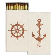 ships wheel & anchor matches