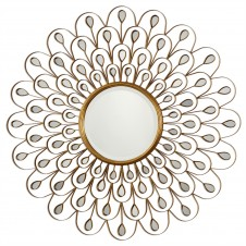 uttermost golden peacock mirror