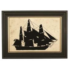 silhouette merchant ship