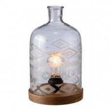 large etched jar lamp