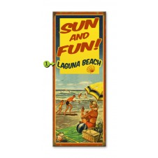sun & fun customizable wood sign