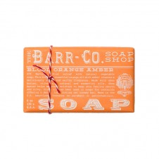 barr-co. shea butter & olive oil bar soap in blood orange amber