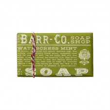 barr-co. shea butter & olive oil bar soap in watercress mint