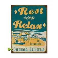 rest & relax customizable wood sign