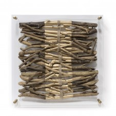 acrylic driftwood wall decor-stripe