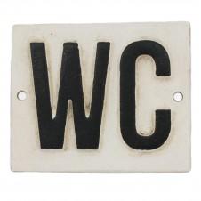 homart wc cast iron sign