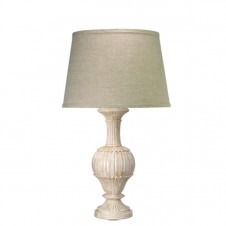 jamie young large carved bone table lamp w/ classic open cone shade