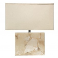 jamie young large borealis table lamp w/ rectangle shade