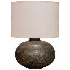 jamie young caisson table lamp w/ classic drum shade