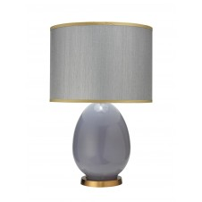 jamie young large egg table lamp w/ drum shade