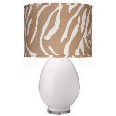 jamie young large egg table lamp w/ large drum shade