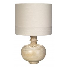 jamie young lotus accent lamp w/ small banded drum shade
