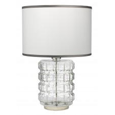 jamie young madison clear glass table lamp w/ classic drum shade