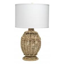 jamie young small jute urn table lamp w/ medium drum shade