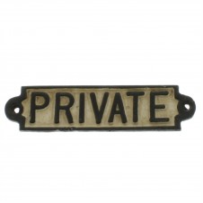 homart private cast iron sign