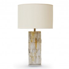 natural petrified wood table lamp