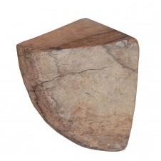 homart salvaged wood quarter wheel sconce