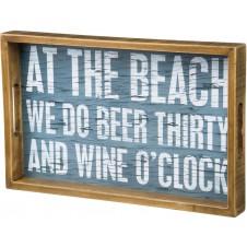 at the beach wood tray