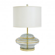 palecek drum gold leaf table lamp