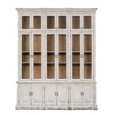 country glass front cabinet