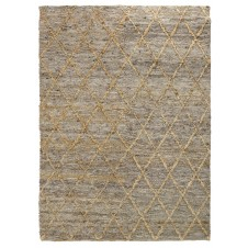 silky loop diamond rug, grey