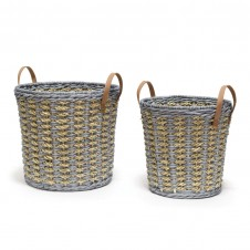 palecek carolina baskets, set of 2