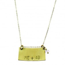 "mini statement ""identity"" necklace"