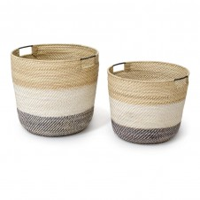 palecek bixby baskets, set of 2