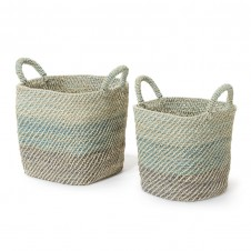 palecek lagos baskets, set of 2