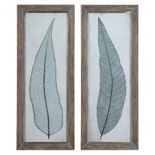 uttermost tall leaves art, set of 2