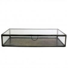 homart pierre rectangular leaded glass case, medium