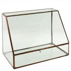 homart cornell leaded glass display case, tall