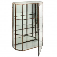 homart cornell leaded glass curio cabinet, large