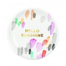 water marks hello sunshine round mini tray