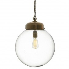 arteriors reeves brass pendant lamp