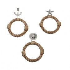 mud pie sea rope towel ring