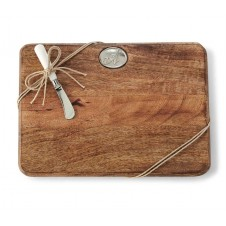 mud pie cutting board set with initial