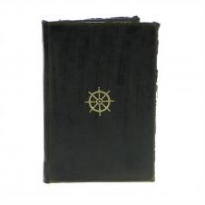 homart maritime embossed journal, wheel black