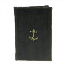 homart maritime embossed journal, anchor black