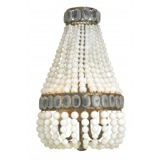 currey & company lana cream wall sconce