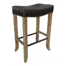 camille backless barstool in chocolate