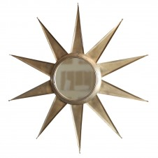 homart ray 10 point mirror, brass