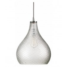 jamie young large cut glass curved pendant