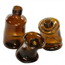 homart slumped glass bottle, large