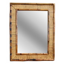 woven rattan mirror