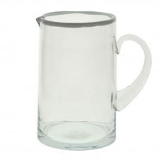 homart white rimmed glass pitcher