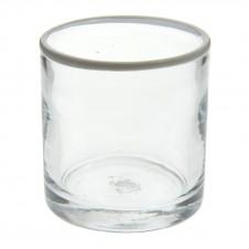 homart white rimmed glass cooler
